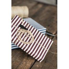 IB LAURSEN Balicí papír Burgundy Wide - 10m (úzký), červená barva, papír