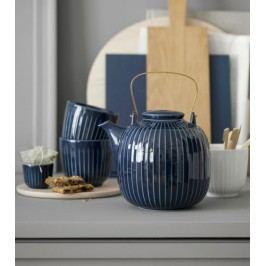 KÄHLER Porcelánová čajová konvice Hammershøi Indigo, modrá barva, porcelán