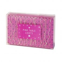 Talking Tables Světelný LED drátek Party Pink, růžová barva, kov