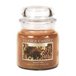 VILLAGE CANDLE Svíčka ve skle Spiced Noir - střední, hnědá barva, vosk