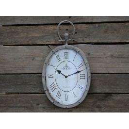 Chic Antique Nástěnné hodiny Antique Beige, šedá barva, sklo, kov