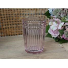 Chic Antique Skleněný hrneček na kartáčky Rose, růžová barva, sklo