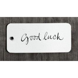 Ylva Skarp Papírová dárková kartička Good luck, černá barva, bílá barva, papír