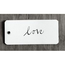 Ylva Skarp Papírová dárková kartička Love, černá barva, bílá barva, papír
