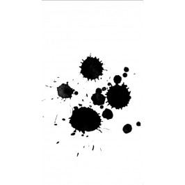 Ylva Skarp Přání s obálkou Splash, černá barva, bílá barva, papír