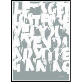 Ylva Skarp Plakát Get lost grey 50x70, šedá barva, papír