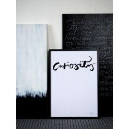 Ylva Skarp Plakát Curiosity 40x50, černá barva, papír
