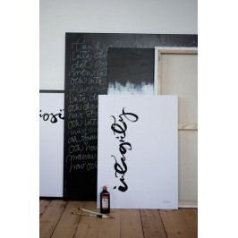 Ylva Skarp Plakát Integrity 40x50, černá barva, papír
