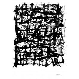 Ylva Skarp Plakát Mess 70 x 100 cm, černá barva, bílá barva, papír