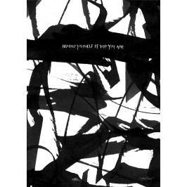 Ylva Skarp Plakát Remind Yourself 50 x 70 cm, černá barva, bílá barva, papír