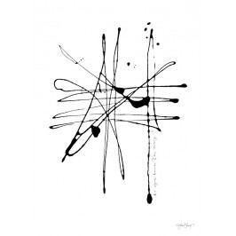 Ylva Skarp Plakát The Way 50 x 70 cm, černá barva, bílá barva, papír