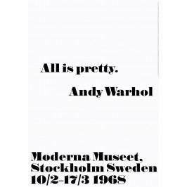 Andy Warhol Plakát Andy Warhol - All is pretty, černá barva, bílá barva, papír