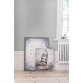 MRS. MIGHETTO Plakát MISS HANNA 40 x 50 cm - Limited Edition, růžová barva, šedá barva, papír