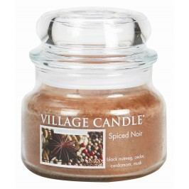 VILLAGE CANDLE Svíčka ve skle Spiced Noir - malá, hnědá barva, sklo, vosk
