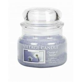VILLAGE CANDLE Svíčka ve skle Change of Season - malá, modrá barva, sklo, vosk