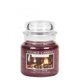 VILLAGE CANDLE Svíčka ve skle Mountain Retreat - střední, červená barva, sklo, vosk