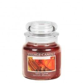 VILLAGE CANDLE Svíčka ve skle Indian Summer - střední, oranžová barva, hnědá barva, sklo, vosk