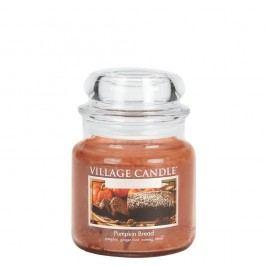VILLAGE CANDLE Svíčka ve skle Pumpkin Bread - střední, oranžová barva, hnědá barva, sklo, vosk