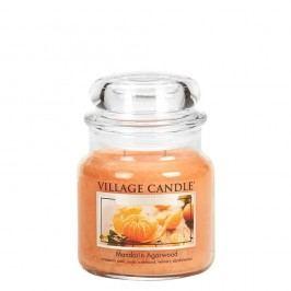 VILLAGE CANDLE Svíčka ve skle Mandarin Agarwood - střední, oranžová barva, sklo, vosk