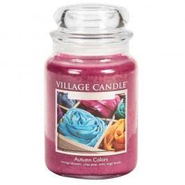 VILLAGE CANDLE Svíčka ve skle Autumn Colors - velká, růžová barva, sklo, vosk