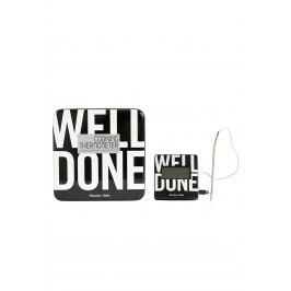 House Doctor Kuchyňský digitální teploměr Well done, černá barva, bílá barva, plast