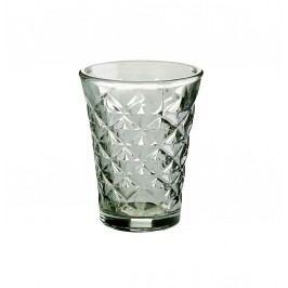 Tine K Home Svícen Facet glass Aqua 10 cm, šedá barva, sklo