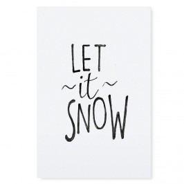 TAFELGUT Plakát Let it Snow 30x42 cm, černá barva, bílá barva, papír