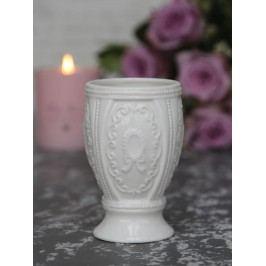Chic Antique Hrneček na kartáčky Marie Antoinette, bílá barva, porcelán