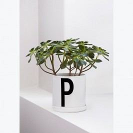 DESIGN LETTERS Porcelánový květináč Design Letters Plant, bílá barva, porcelán