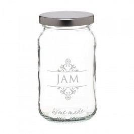 Kitchen Craft Zavařovací sklenice Jam 454 ml, bílá barva, stříbrná barva, čirá barva, sklo, kov