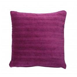 Krasilnikoff Sametový povlak na polštář Plum 50x50, růžová barva, fialová barva, textil