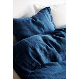Lovely Linen Přírodní lněné povlečení Blue, modrá barva, textil