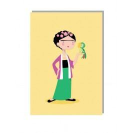 Lucie Kaas Přání s obálkou Frida A5, žlutá barva, papír