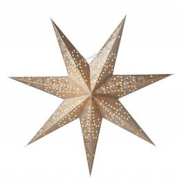 watt & VEKE Závěsná hvězda Ludwig Silver/Gold 60 cm, šedá barva, zlatá barva, stříbrná barva, plast, papír