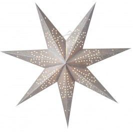 watt & VEKE Závěsná hvězda Ludwig slim Silver/Silver 60 cm, šedá barva, stříbrná barva, plast, papír
