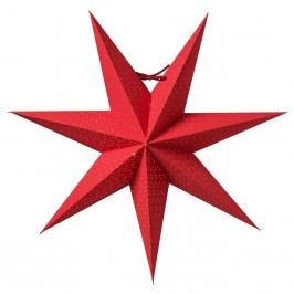 watt & VEKE Závěsná svítící hvězda Aino Red 44 cm, červená barva, papír