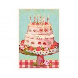 Maileg Dětské narozeninové přání Dortík, multi barva, papír