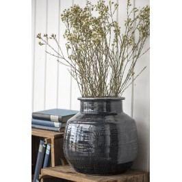 IB LAURSEN Keramická váza Agra, šedá barva, keramika