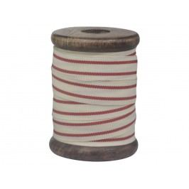 Chic Antique Bavlněná stuha Red Stripes 5m, červená barva, bílá barva, textil