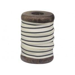 Chic Antique Bavlněná stuha Black Stripes 5m, černá barva, bílá barva, textil