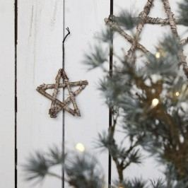 House Doctor Dřevěná hvězdička Wood 12cm, přírodní barva, dřevo