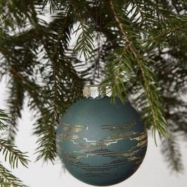 House Doctor Vánoční baňka Matt Green, zelená barva, zlatá barva, sklo