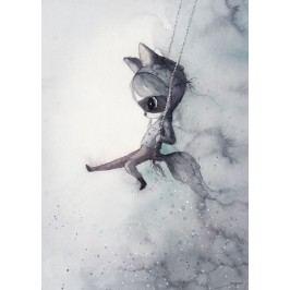 MRS. MIGHETTO Plakát MR CHARLIE 50x70 cm - Limited Edition, šedá barva, papír