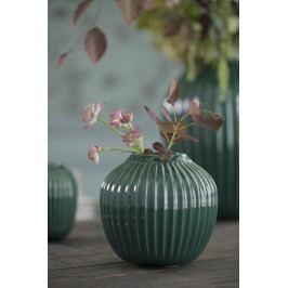 KÄHLER Keramická váza Hammershøi Green 12,5 cm, zelená barva, keramika
