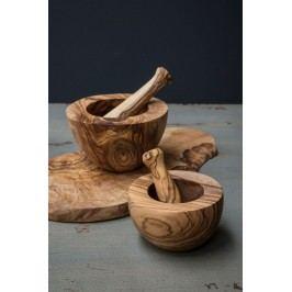IB LAURSEN Hmoždíř z olivového dřeva, hnědá barva, dřevo