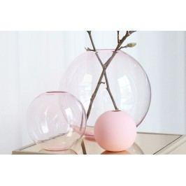 COOEE Design Kulatá skleněná váza Ball Glass Pink 15 cm, růžová barva, sklo