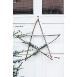 IB LAURSEN Dekorativní hvězda z větviček - větší, hnědá barva, dřevo