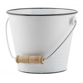 IB LAURSEN Smaltovaný kyblík White, bílá barva, smalt
