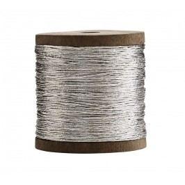 MADAM STOLTZ Provázek Shiny Silver, stříbrná barva, textil