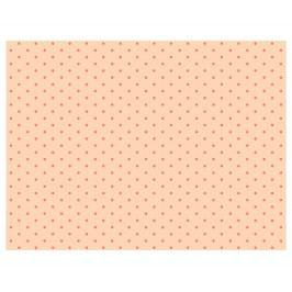 Maileg Hedvábný papír Peach/Coral dots - 10 listů, oranžová barva, papír